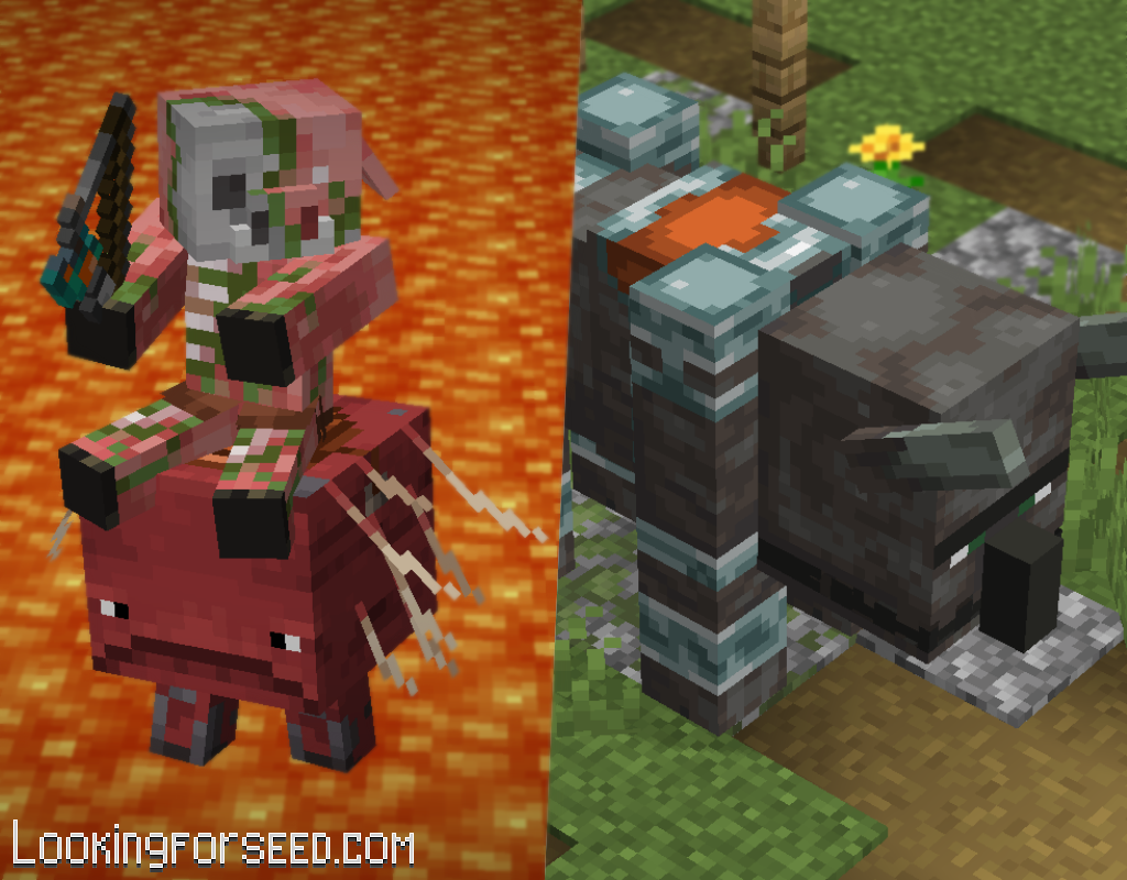 Mobs equipped with saddle