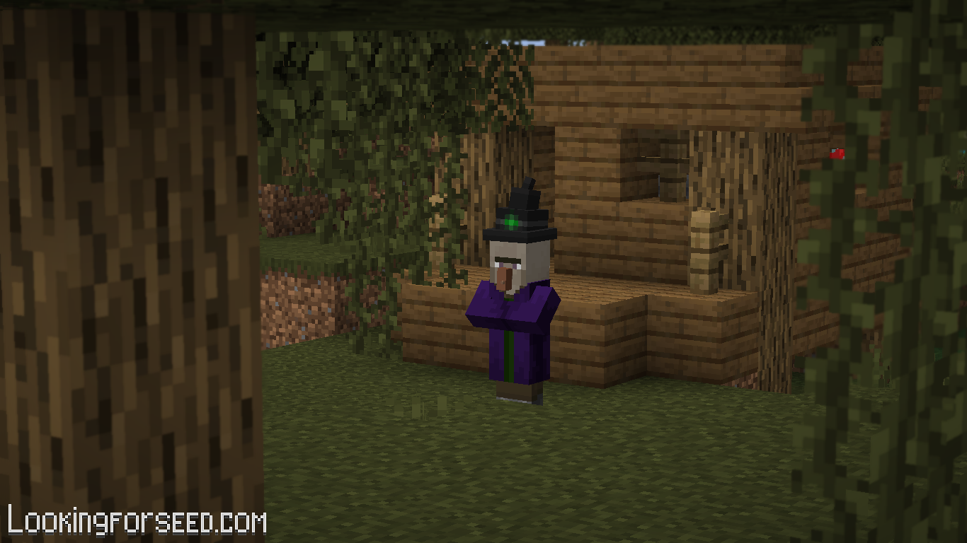 Witch outside the Witch Hut