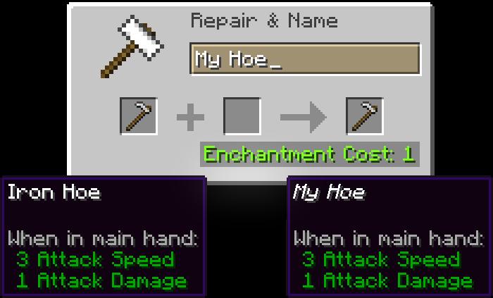 Renaming Item using Anvil