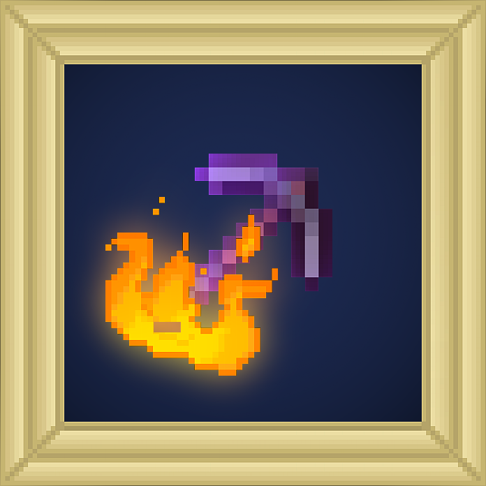 Pickaxe Curse of Vanishing Enchantment