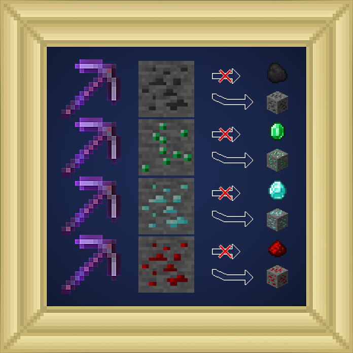Pickaxe Silk Touch Enchantment