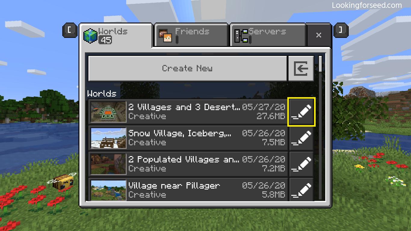 Editing Minecraft world in Minecraft Bedrock Edition