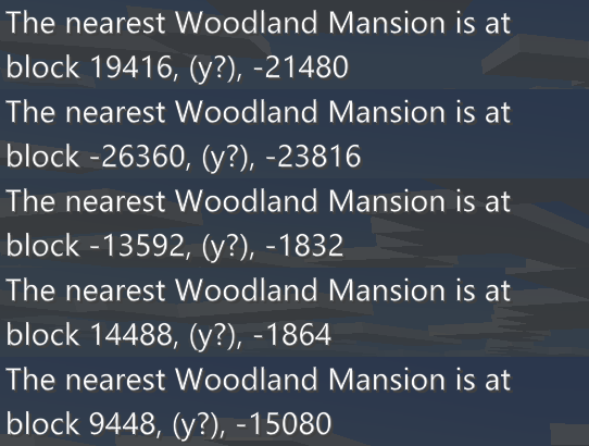 Woodland Mansion coordinate bedrock