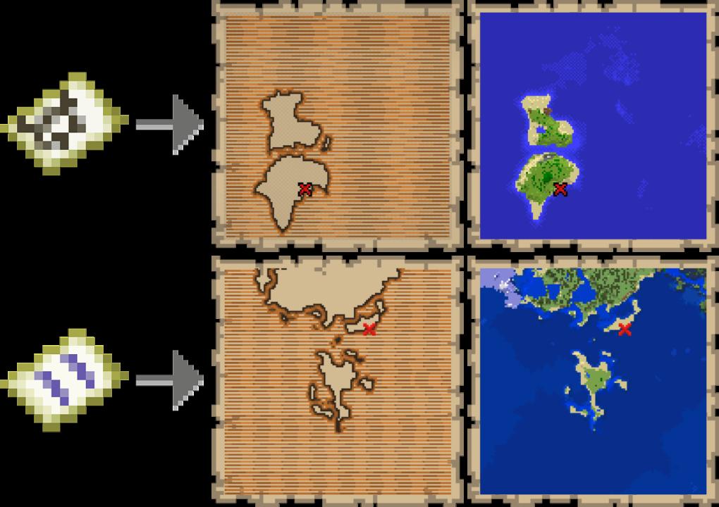 treasure map minecaft