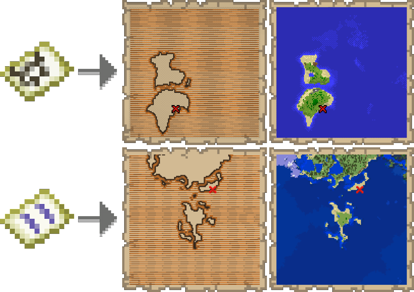 Treasure Maps Minecraft