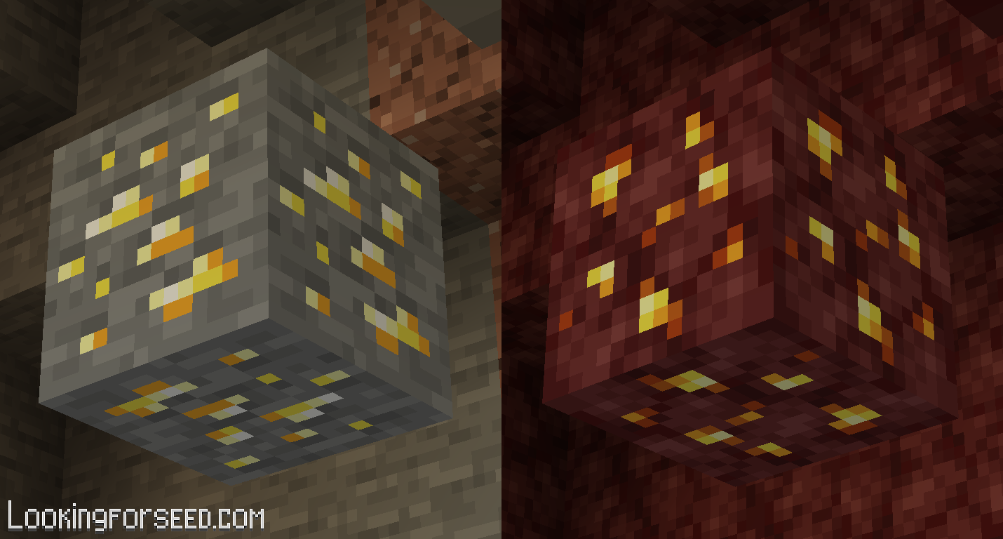 Gold Ore and Nether Gold Ore